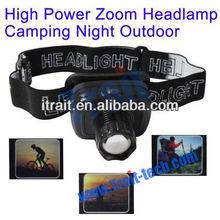 New arrival 3W 170lms Rechargable climbing fishing hunting flashlight headlight high power zoom headlamp led