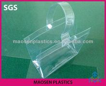 Handle plastic bag,pvc ice bag for shopping , pvc bag for promotional