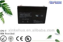 Sealed Lead acid battery/Rechargeable Battery/UPS battery/6v 7ah