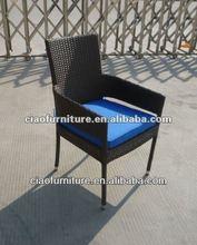 garden side chair 669C PE rattan arm chair