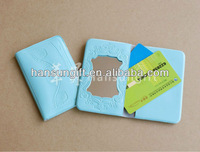PVC Credit card holder with mirror for women