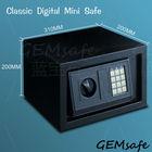 GEMSAFE/Classic digital mini safe /cheap safe/ EW200-20/ 1mm body , 3m door/ H200*W310*D200mm