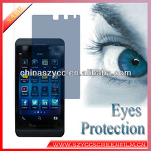 Top Quality 2013 Latest Japan PET Eyes protection Film For Blackberry Z10