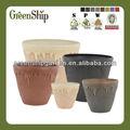 Outdoor grandes vasos de plástico/mistura de pó de pedra, pó de madeira e plástico/20 anos de vida/durável/uv- proteção/natural
