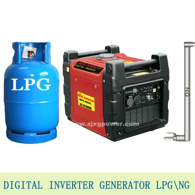 3.1kw macht digitaleinverter generator erdgas \pannel lcdindustriellen lpg generator