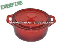 Cast Iron Red Porcelain Casseroles