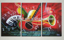 hot selling beautiful guitar instrument canvas oil painting