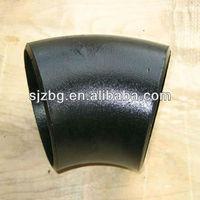 BG ASME B16.9 astm dn 200 seamless butt welded carbon steel pipe 45 degree elbow 6 dimensions