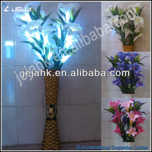 Energy and resource saving artificial flowers with led light