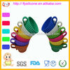 Colorful Popular Tea Cup Silicone Cupcake Molds Without Saucer