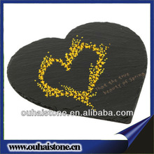 Superior quality natural slate stone heart shaped black cheese board