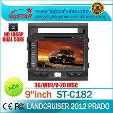 S100platform Car dvd for Toyota Landcruiser 2012 prado With GPS,Bluetooth,Radio,DVD,3G,USB,20CDC,Front DVR Camera, Video copy...