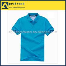 Blue bulk blank polo shirt for men