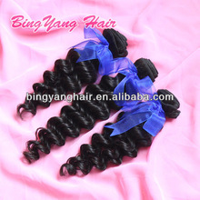 Top grade vigin brazilian hair weft natural color deep wave 100% human hair weaving