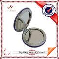 forma redonda de cuero bolsillo espejo de maquillaje fácil de mantener