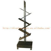 2013 new design 6 pockets metal folding book stand HSX-1637