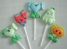 different Cartoon shape gummy lollipop candy