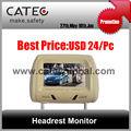 """7"""" araç kafalık monitör Yeni paneli, 7inç Monit Dijital tv tv menüsünde ISDB- T, DVBisteğe bağlı, mükemmel ekranları monitörler araç tv"""