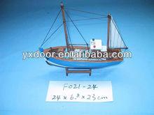 Fishing ship model / 24cm length /wooden boat model, nice gift for child