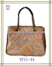 2013 elegant design design cheap women summer canvas beach bag