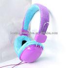 wool ear foam headphone/funny headphones fancy headphones/retractable headset