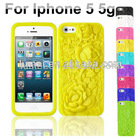 3D rose flower floral gel silicon cell phone case cover for iphone 5 5g