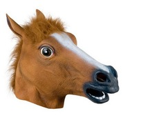 hot sales god quality halloween Rubber Latex head horse mask MK003