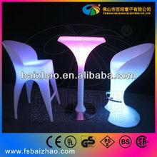 LED green acrylic bar chair