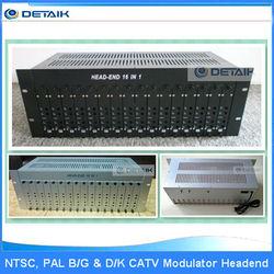 16 in 1 Head-end Modulator & 16 TV Channels Fixed Adjacent Modulator CATV Demodulator