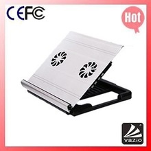 iDock A1 adjustable aluminium laptop desk with Height Adjustable and 4 ports usb hub and 2 fans