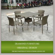 5pcs rattan restaurant furniture luxury