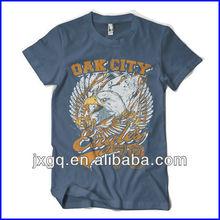 Wholesale promotion advertising u neck t shirts for men organic cotton t shirt