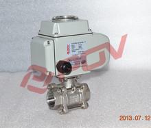 I/O:4-20mA 3pc thread 2way actuator ball valve