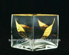 Classique effacer cube verre vase 2310