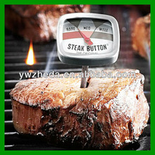 Household dial BBQ mini steak/beef thermometer