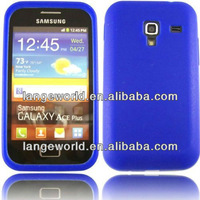 C&T Blue Silicon case for samsung galaxy ace plus s7500