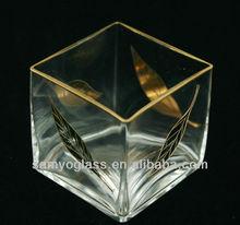 handmade cubo di vetro vaso 2298