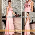 Dorisqueen rose, v- cou, 3d applique de demoiselle d'honneur robe de soirée 30729