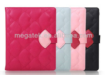 sexy Monroe's lips wallet leather case for ipad, for ipad case with card pocket,for ipad mini case with card slots