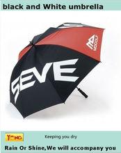100% nylon black and white golf umbrella