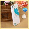 Elegant butterfly Girl Bling Diamond Case for Apple iphone 4 4S,for iphone 4 flying butterfly girl case