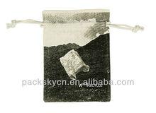 mini cotton jute drawstring bag with custom logo