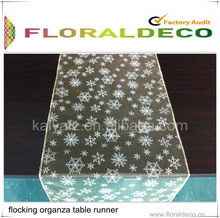 Flocking Organza Table Runner