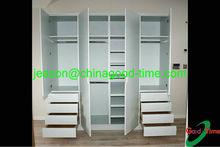 assemble wood wardrobe/4 doors white wardrobe
