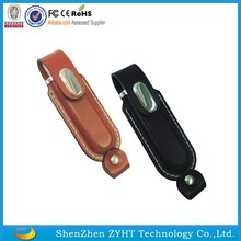 Leather USB stick with USB 2.0, Leather USB flash drives, USB Stick 128mb to 32gb