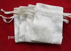 Printing logo drawstring cotton pouch/bag for cosmetics