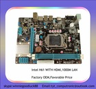 Hot selling Intel H61 mainboard Support LGA1155 I3,I5,I7 processors Motherboard with solid capacitor material