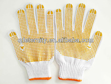 PVC dotted palm gloves, pvc dotted work gloves, gloves pvc dots
