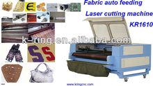 KR1610 fabric, textile auto feeding laser cutting machine