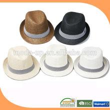 Straw fedora hat/ bulk sale straw fedora hat/ straw hat fedora